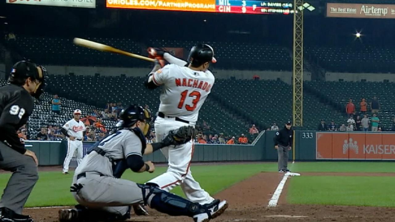 Machado caps O's 4-HR rally with walk-off