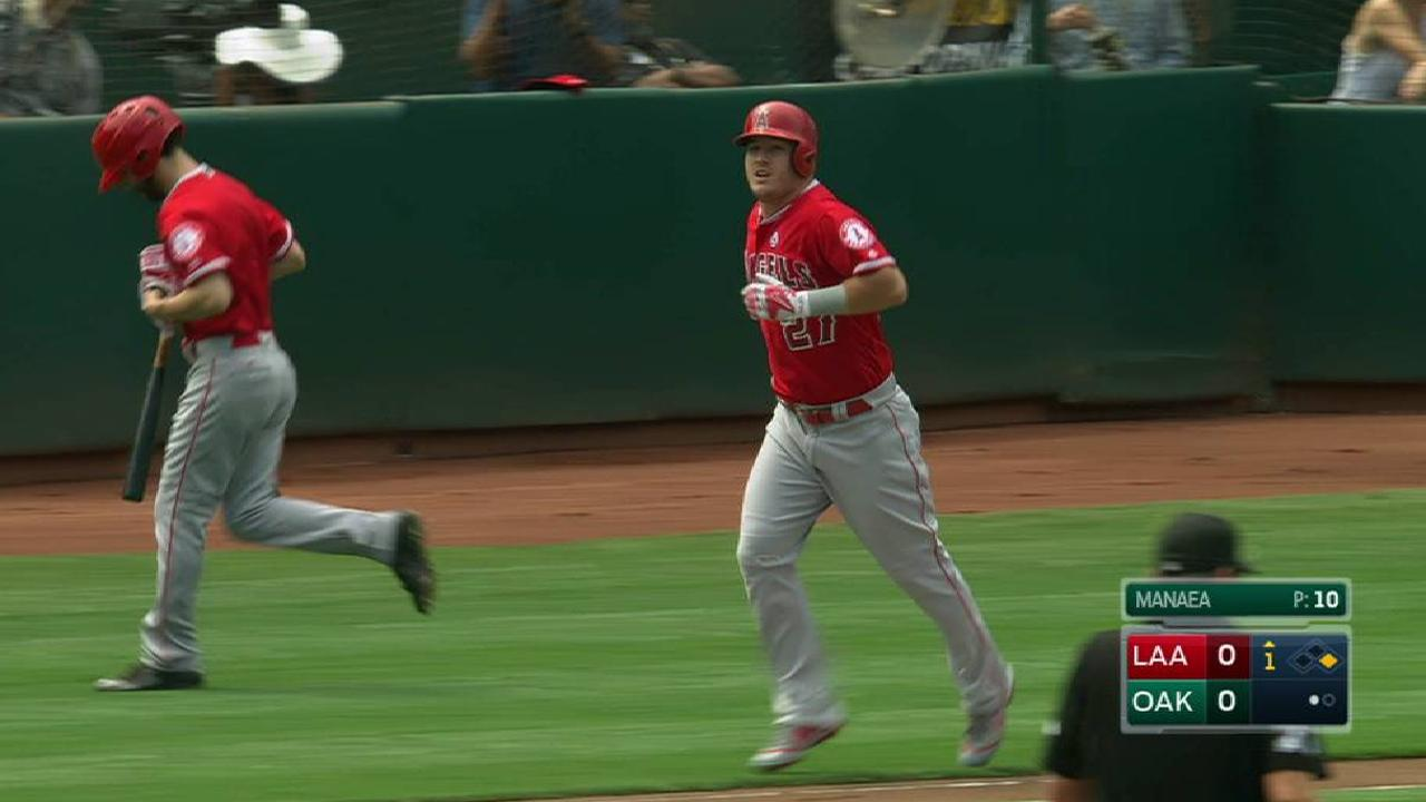 Trout's walk sets Angels record