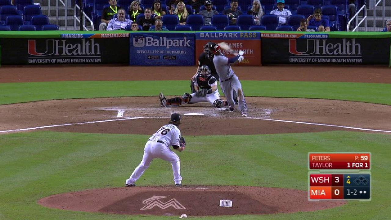 Peters fans 6, but Marlins drop finale to Nats
