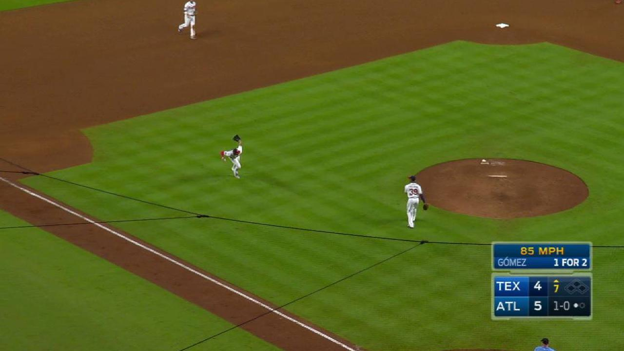Camargo's barehanded play