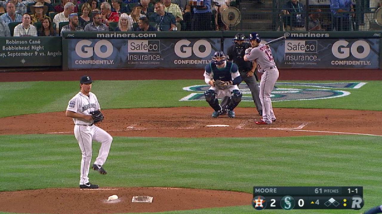 Moore picks off Gonzalez