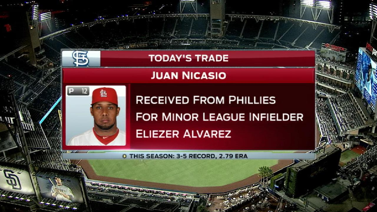 Cards add reliever Nicasio for final stretch