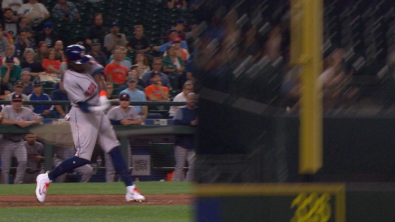 Astros llevan a siete su cadena de victorias detrás de HR de Maybin