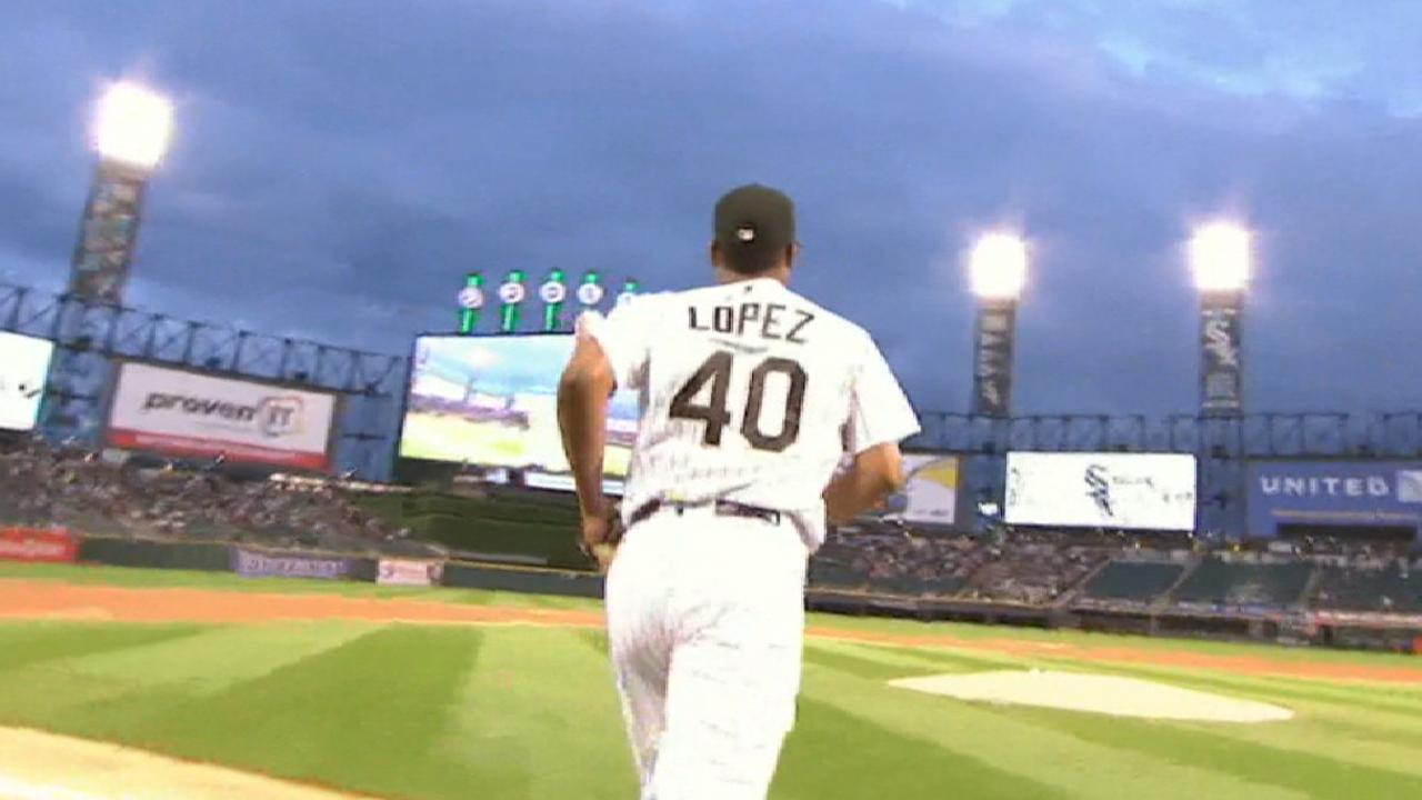 Lopez happy with strong start vs. red-hot Tribe