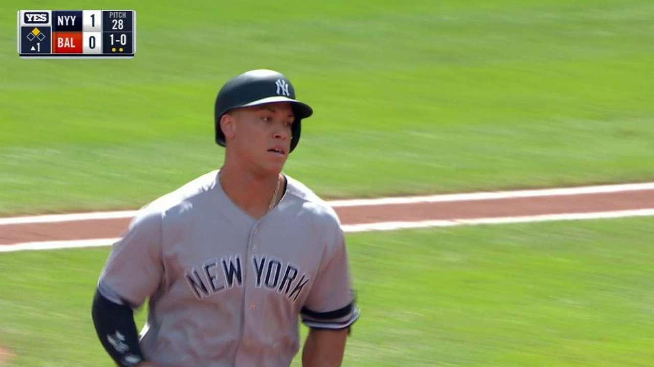Judge dio el HR 39 y Yankees ganaron terreno en el Este de la L.A.