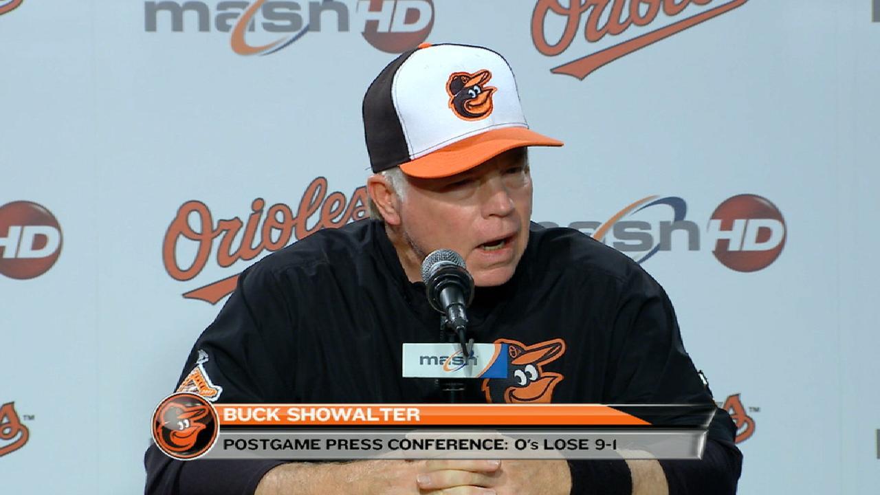 Showalter talks 9-1 loss