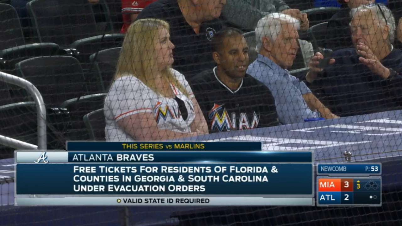 Marlins booth on free tickets