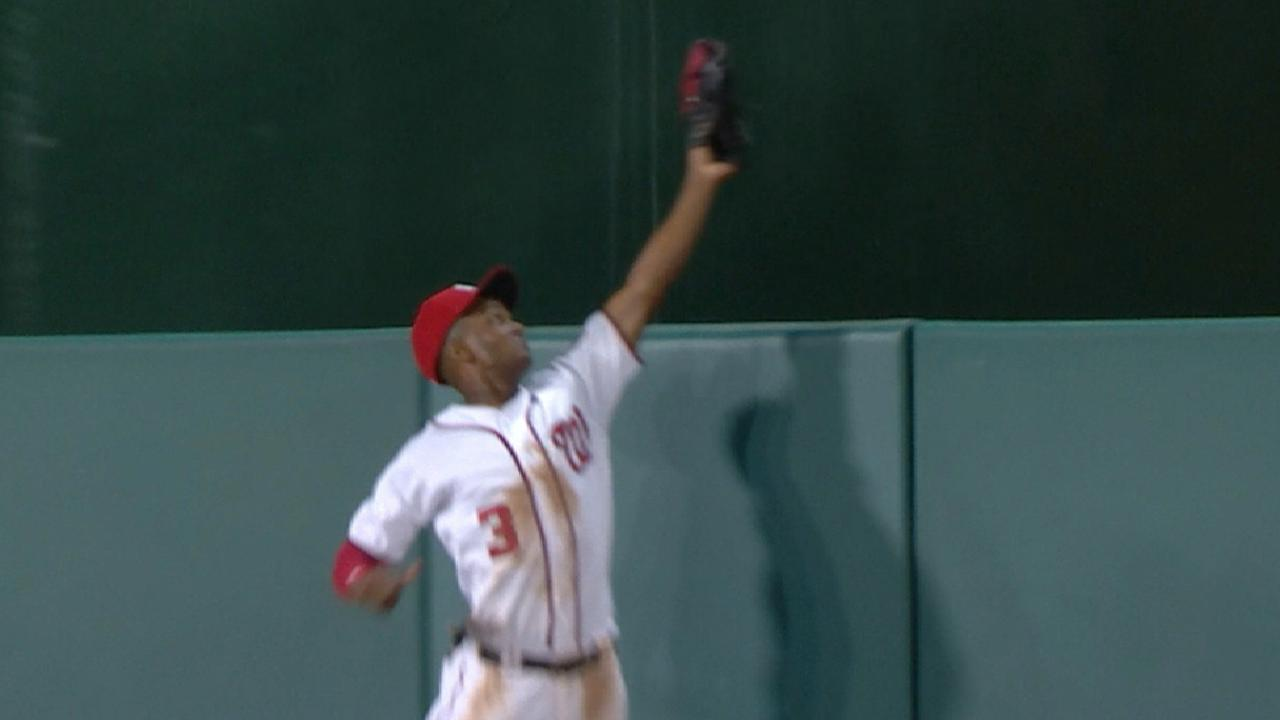 Taylor's leaping grab