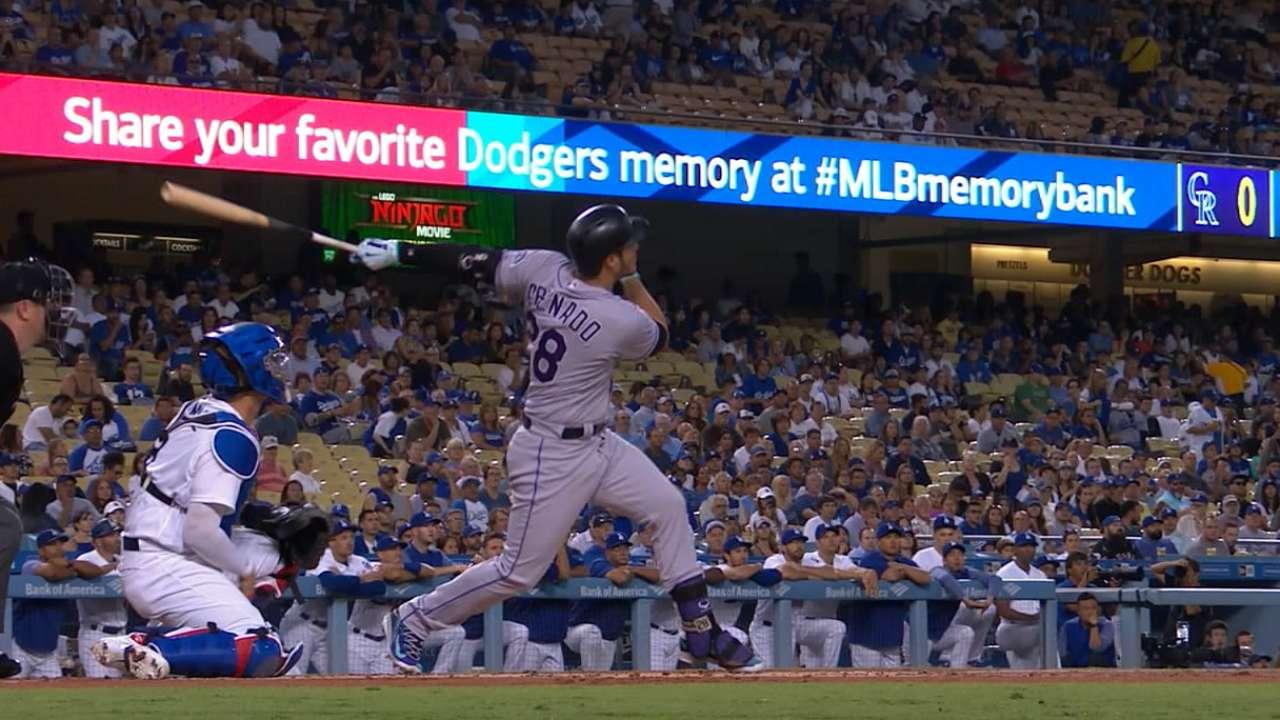 Arenado, Rockies blow past Dodgers