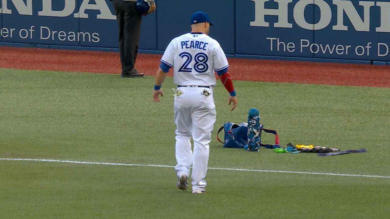 Pearce exits game with injury