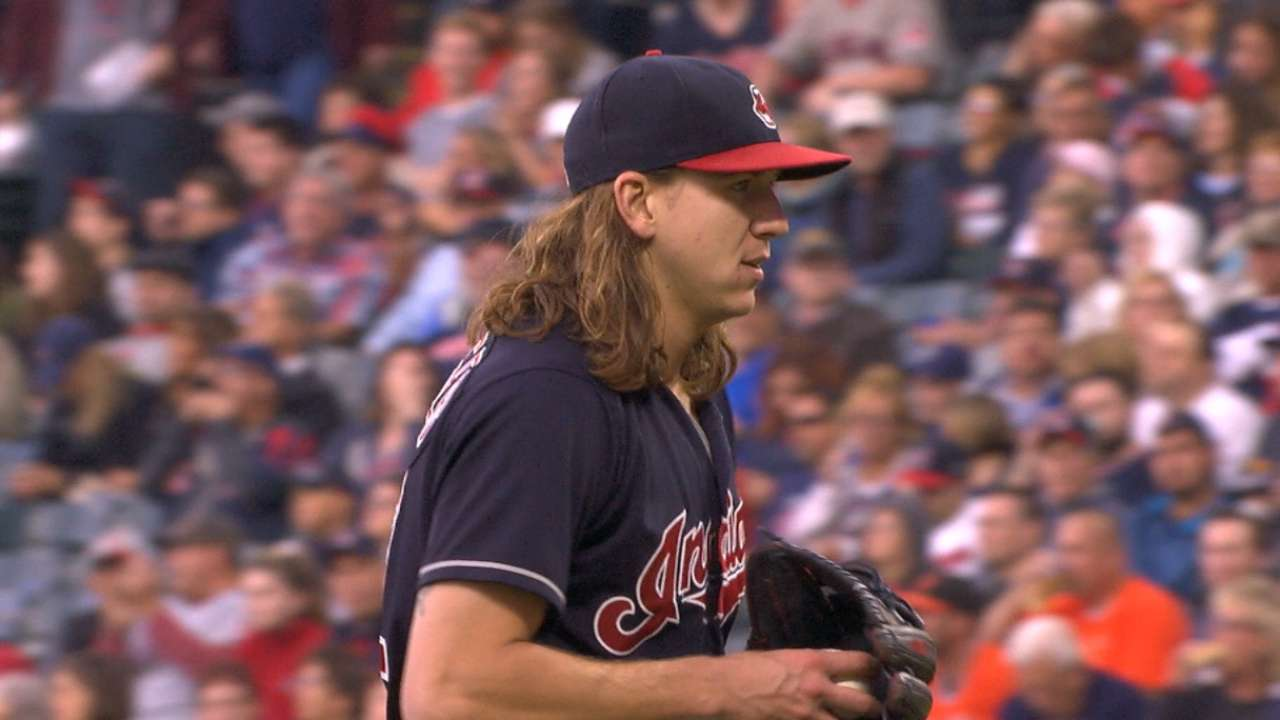 Clevinger's scoreless outing