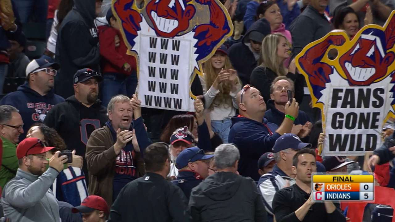 Indians net 16th straight win