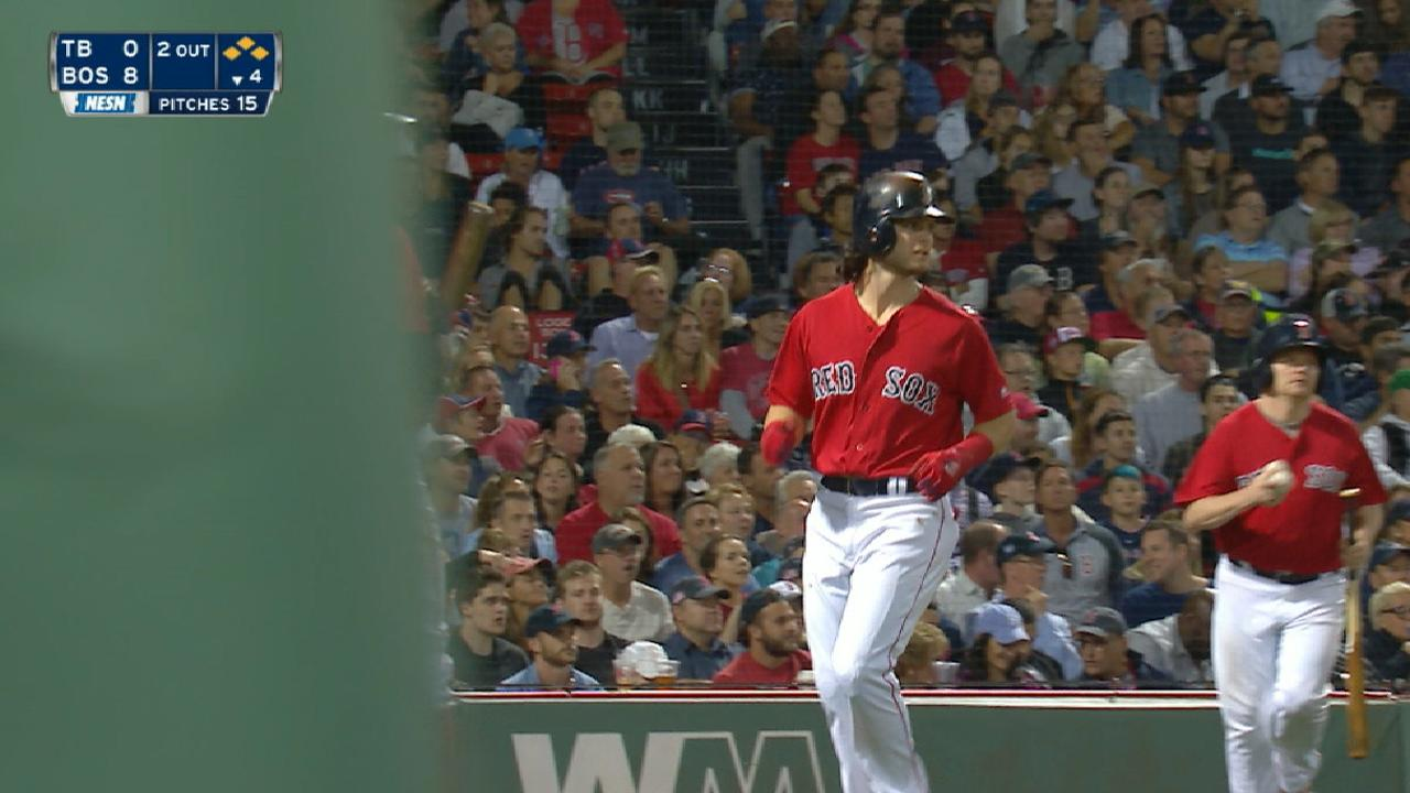 Red Sox's five-run 4th inning