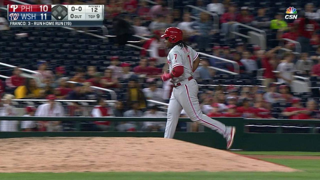 Phils drop slugfest after late rally falls short