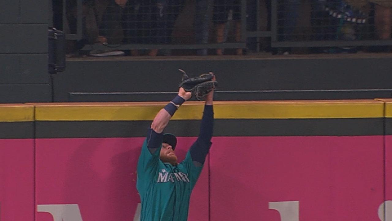 Gamel's terrific leaping catch