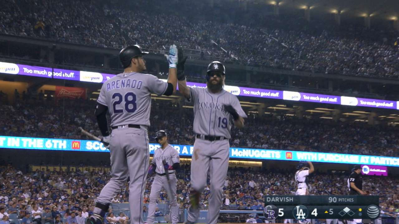 Rox's rally sends Dodgers to 8th straight loss