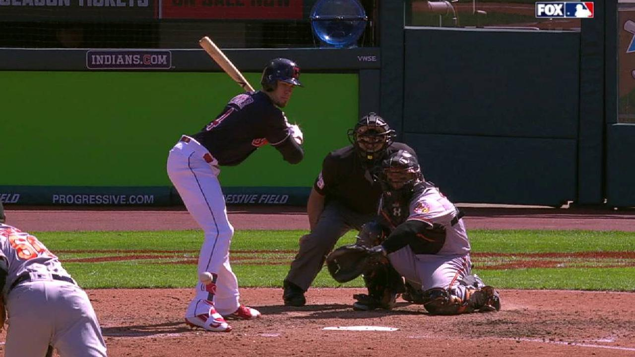 Zimmer gets hit by a pitch
