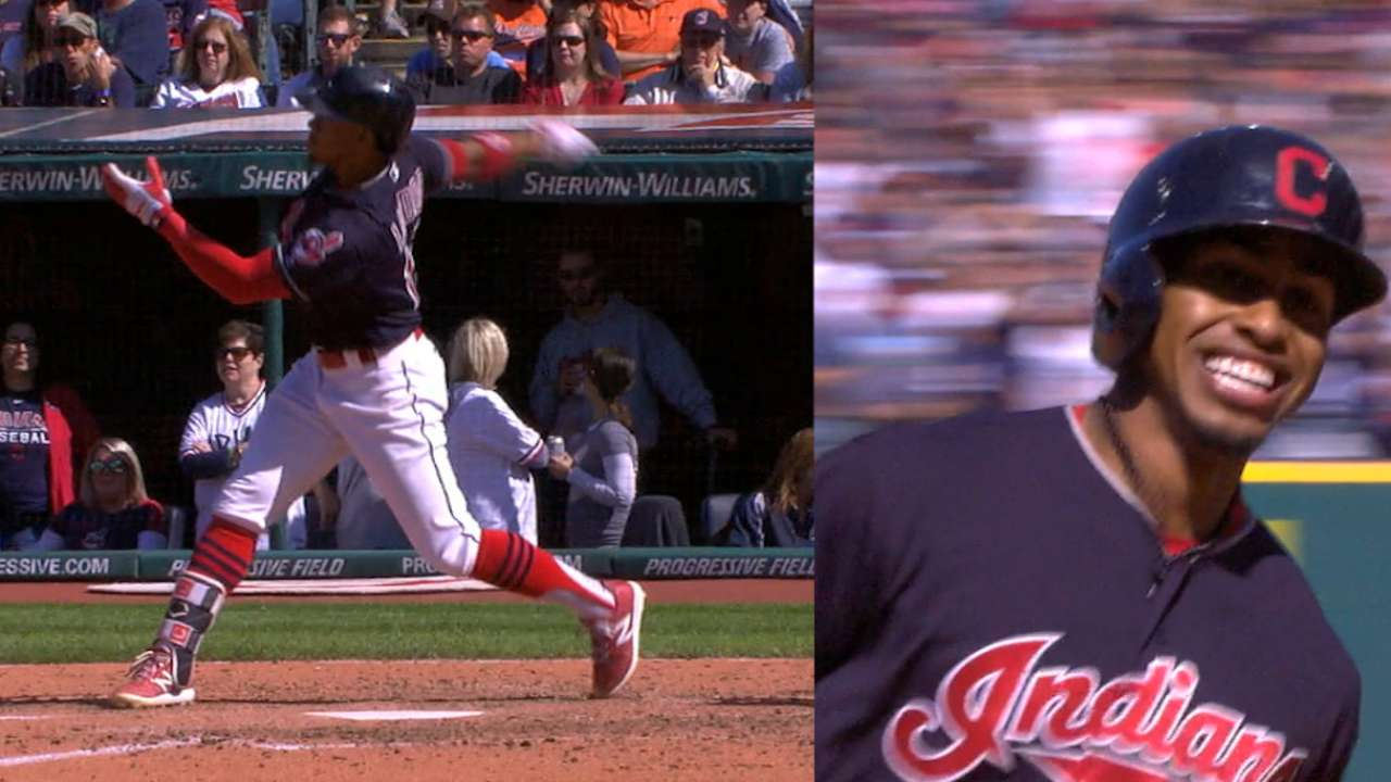 17 for '17! Tribe rides 107, 105 mph hits to top