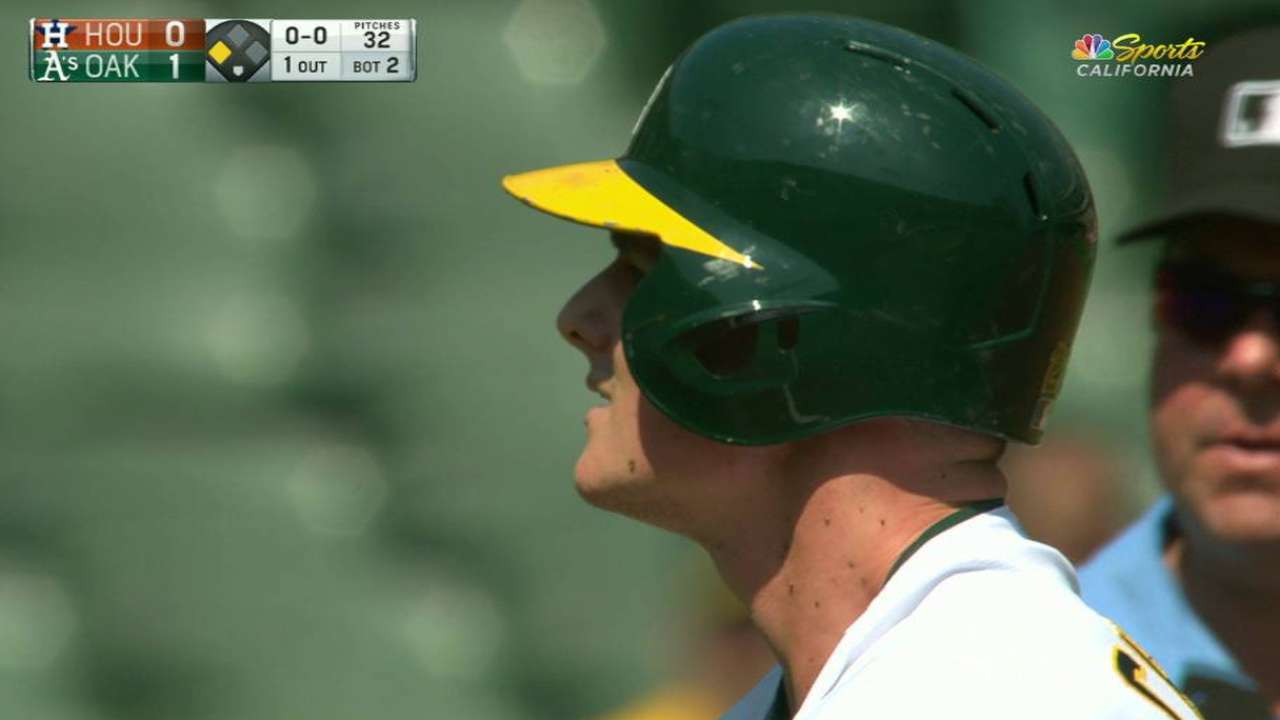 Gossett, A's cruise past West-leading Astros
