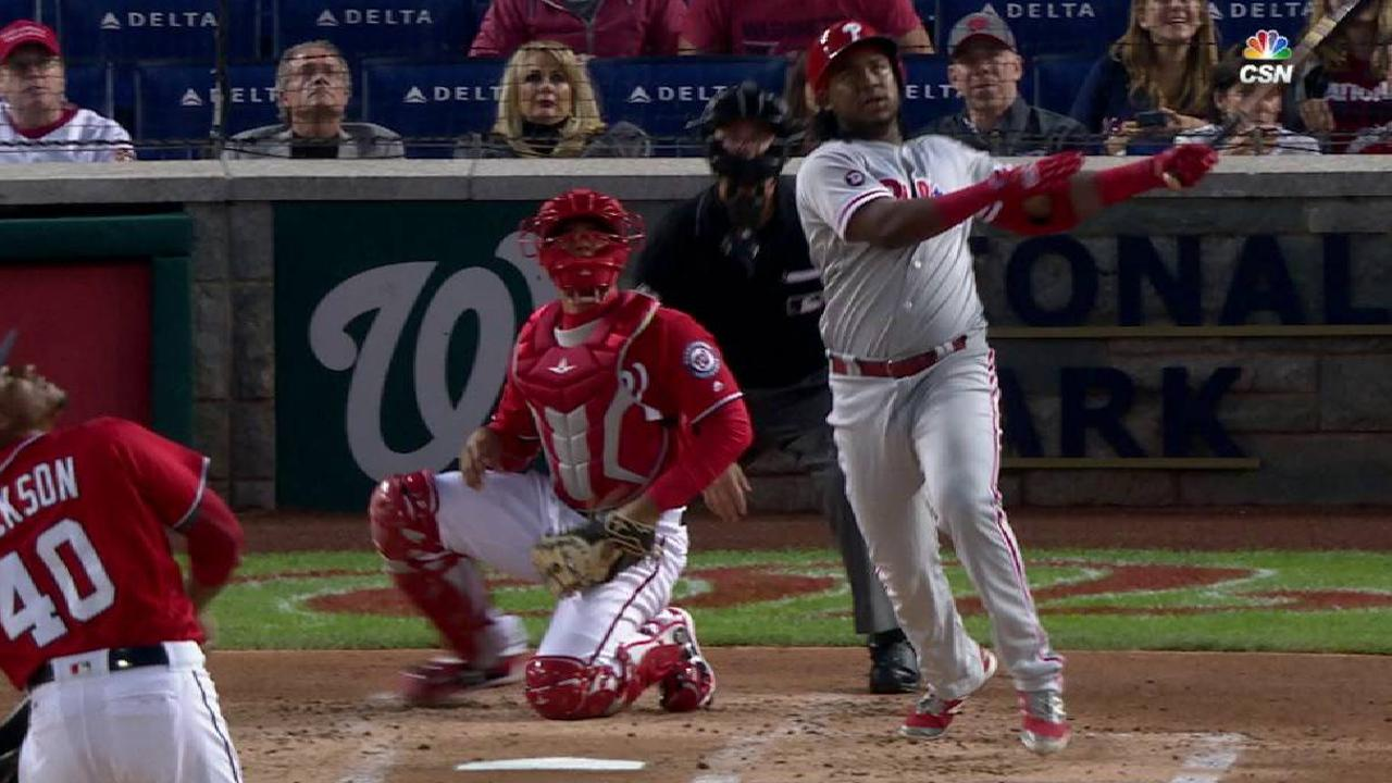 Early runs stand up as Phils hold off Nats