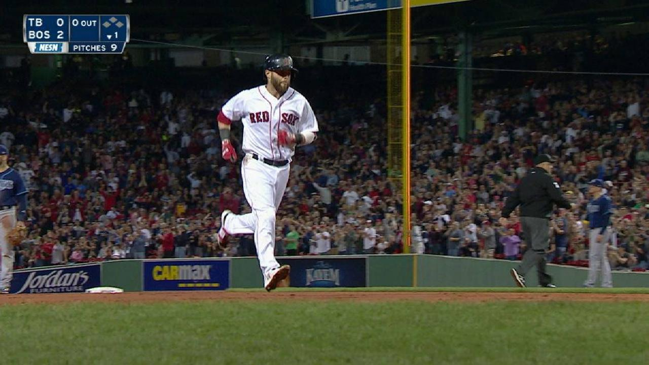 Pedroia's two-run home run