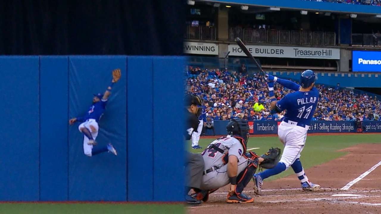 Superman to the rescue: Pillar saves Blue Jays