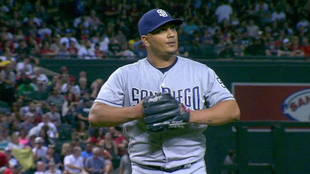 Chacin strands the bases loaded