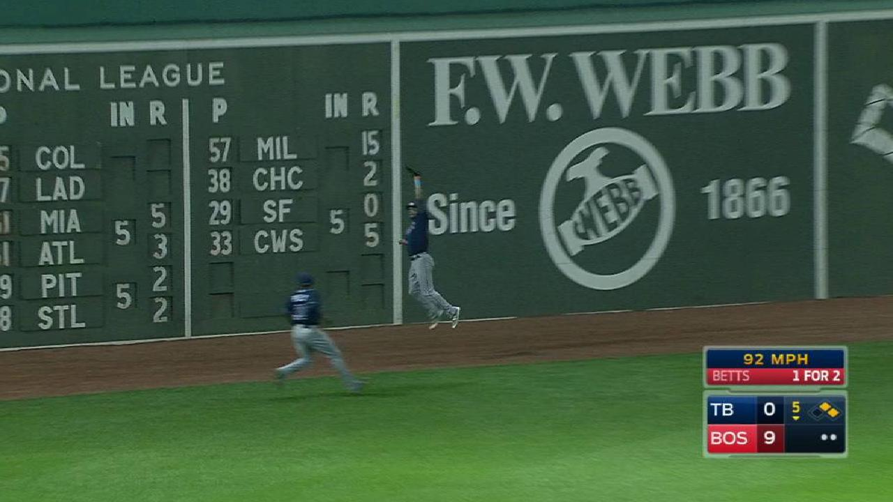Kiermaier's leaping catch