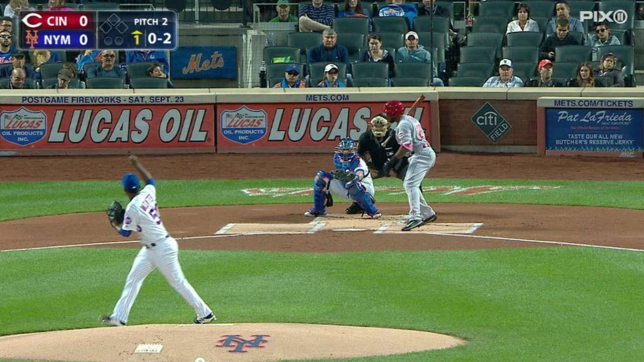 Montero limits Reds as Mets win 4th straight