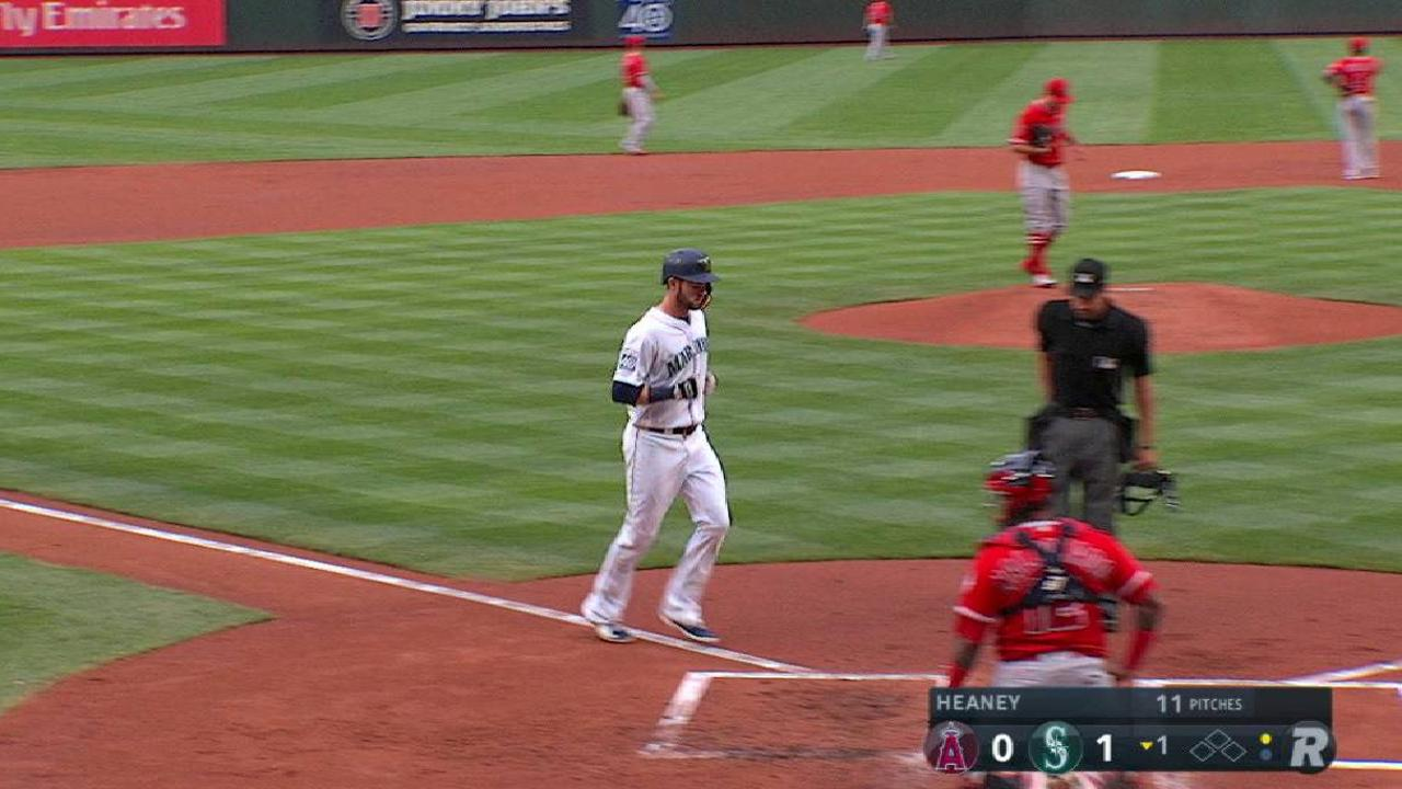 Haniger opens the scoring