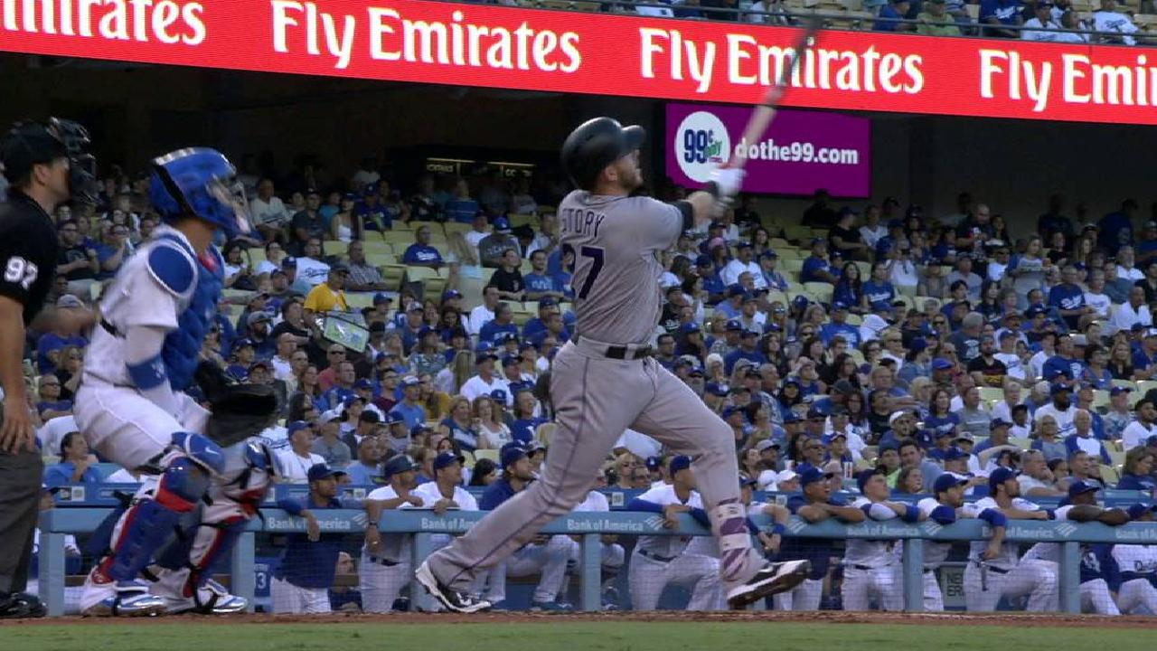 Story leads Rockies as Dodgers' skid hits 9