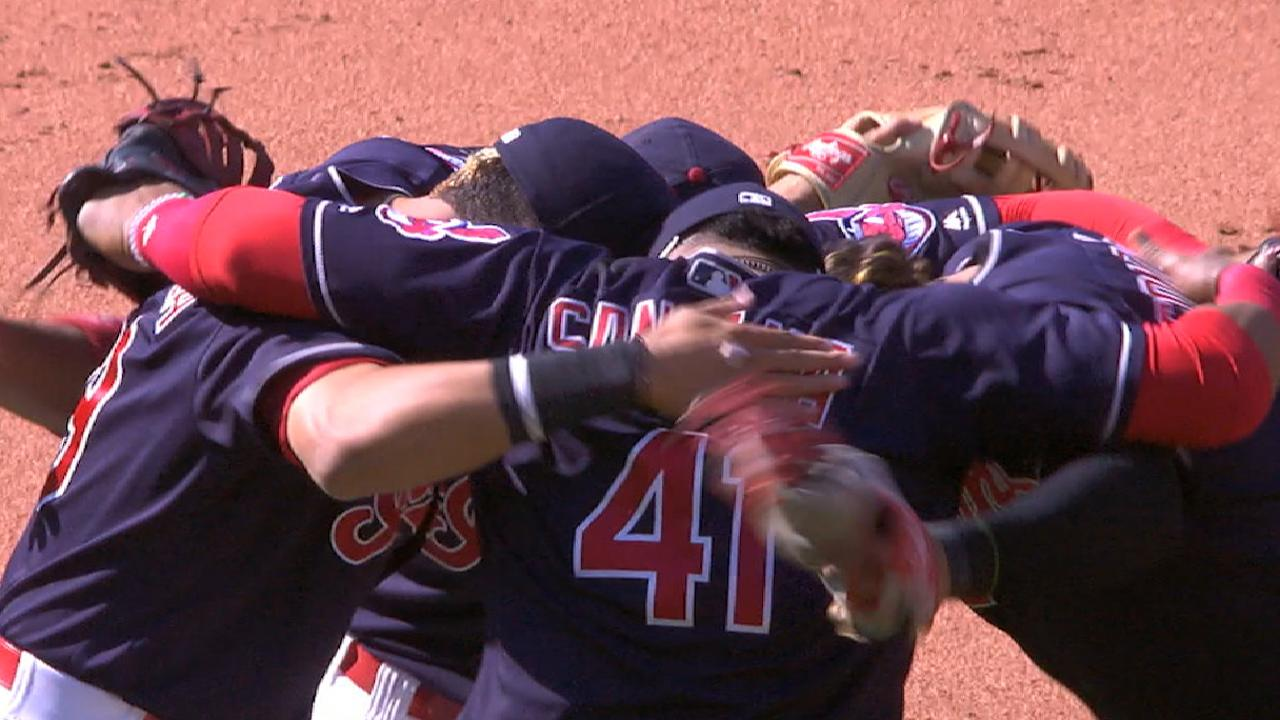 Tribe catches Astros, ties for AL's best mark