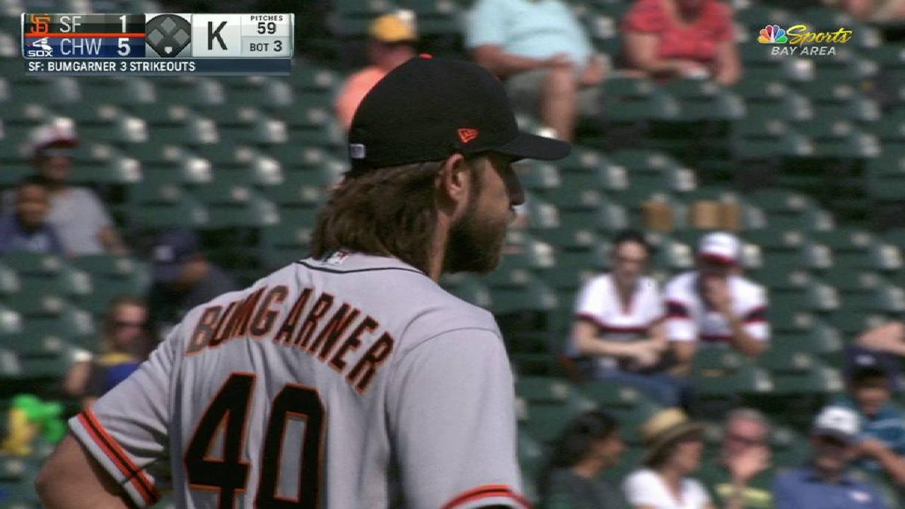 Bumgarner struggles in finale defeat to Sox