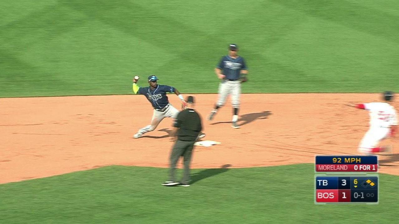 Rays turn big double play