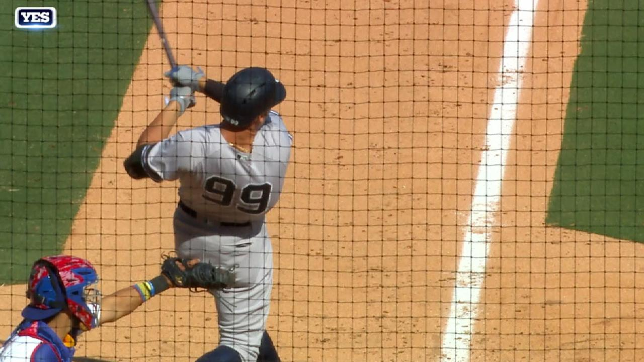 Judge's second homer of the game