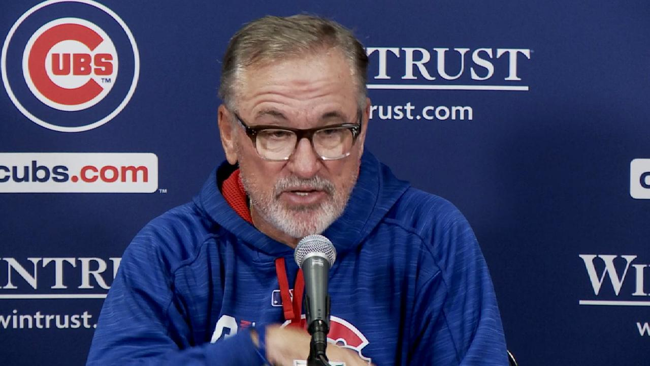 Maddon on tough series at home