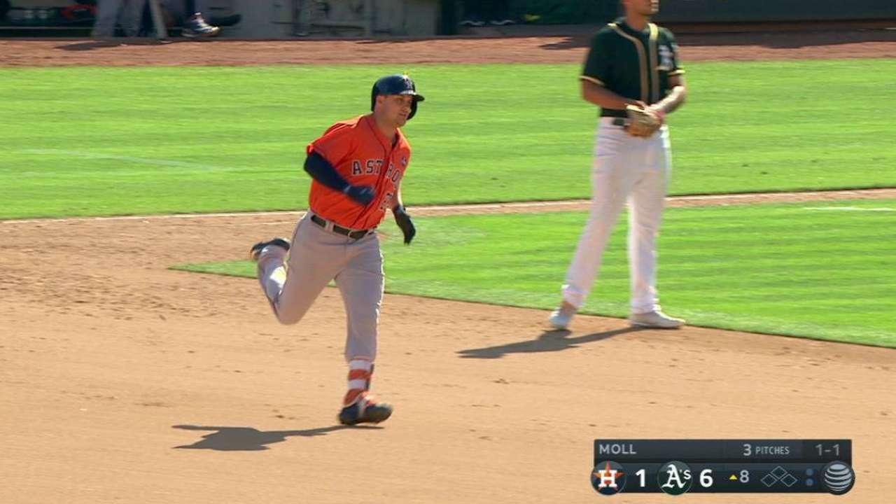Davis homers, but walks hurt Keuchel, Astros