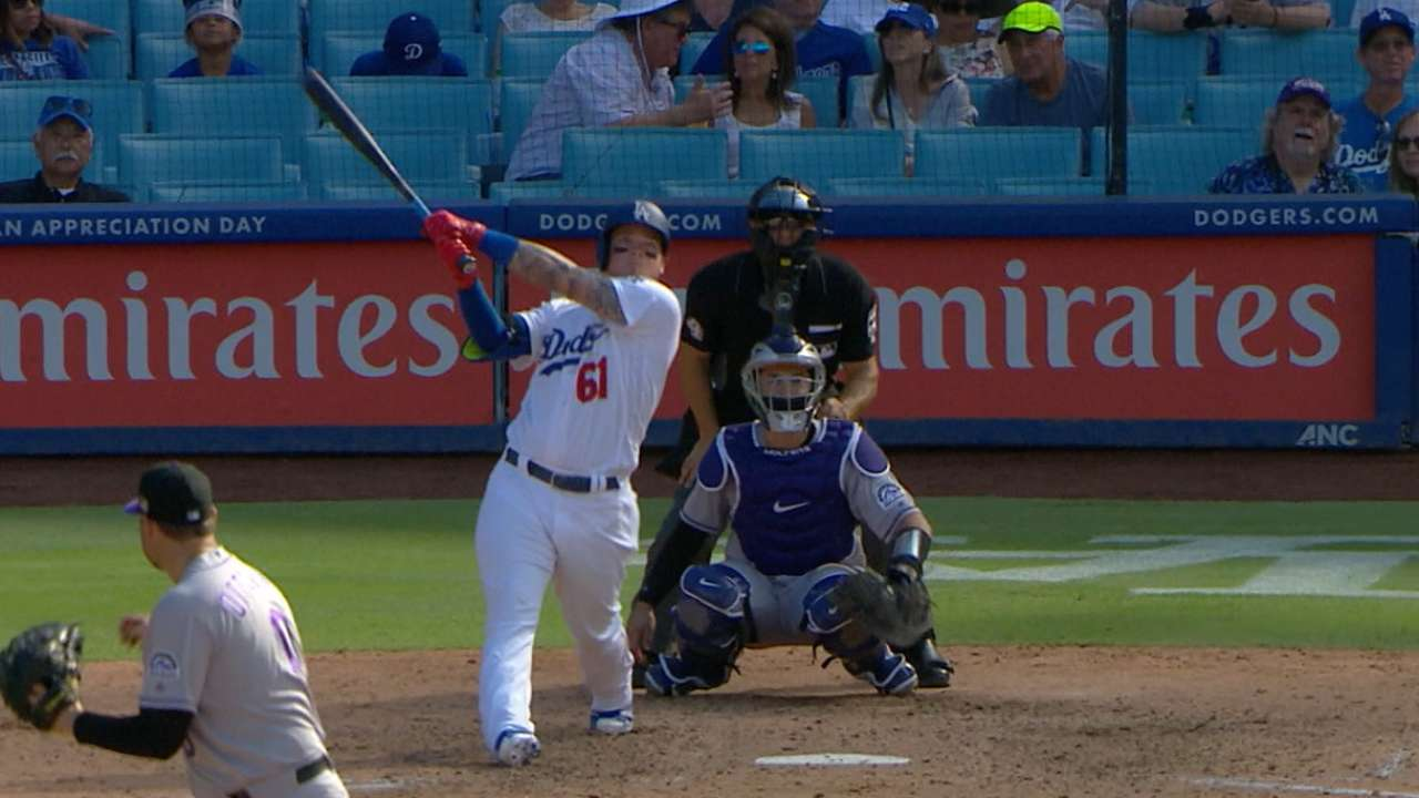Verdugo's first career homer
