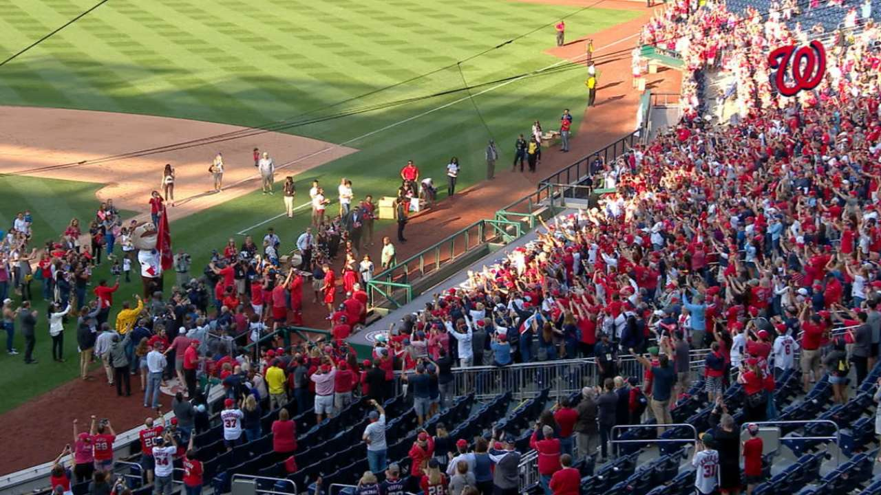 Nats celebrate with fans