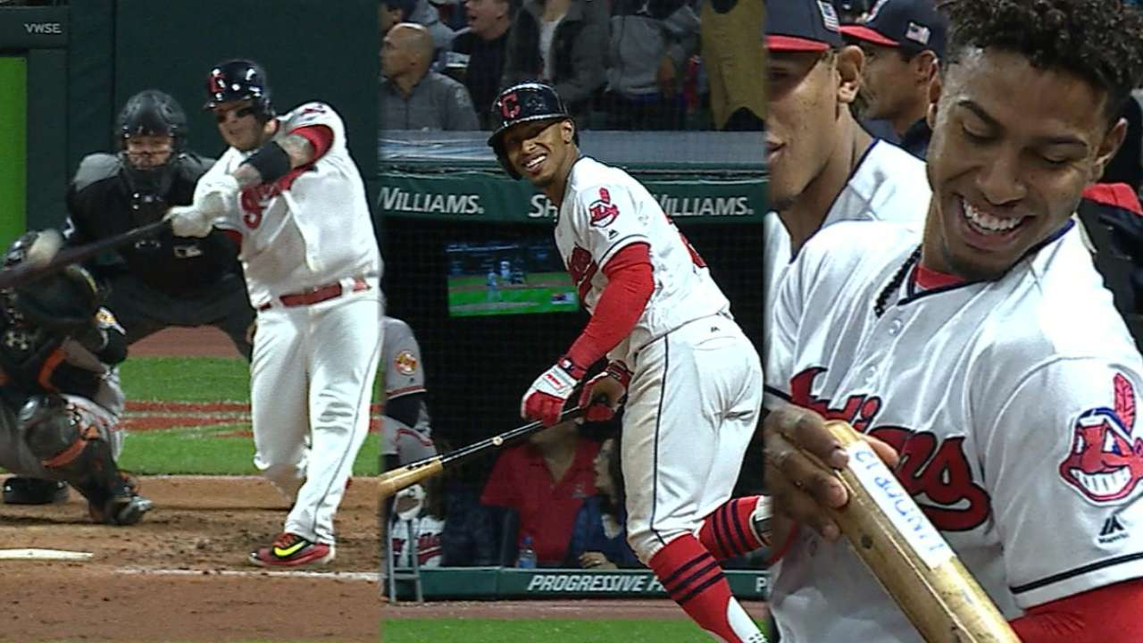 18! Indians sweep O's, streak to top of AL