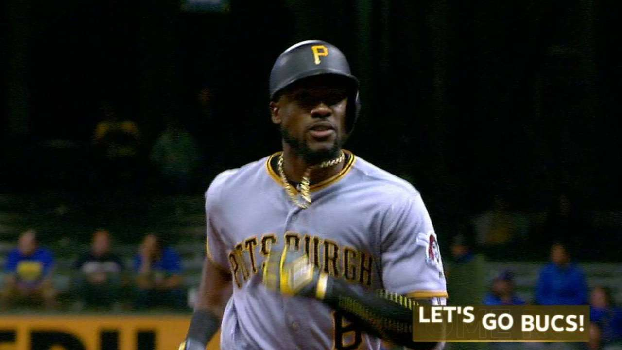 Marte's two-run homer to center