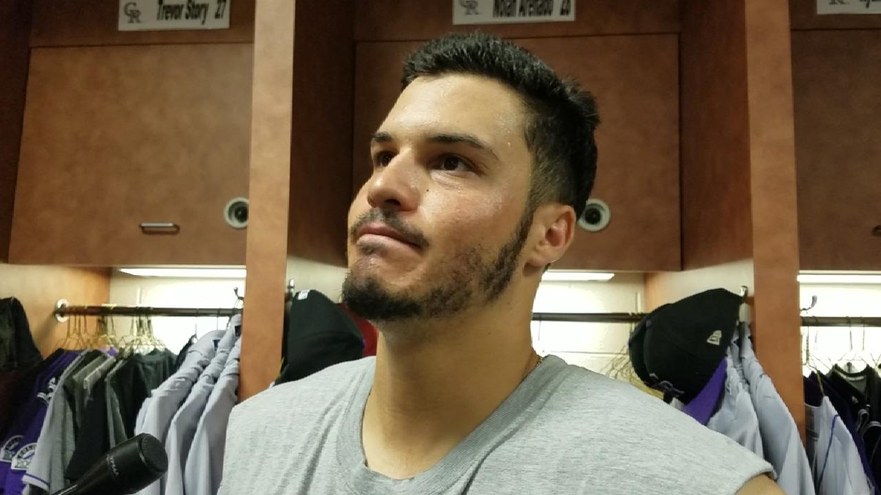 Arenado on heckler and home run