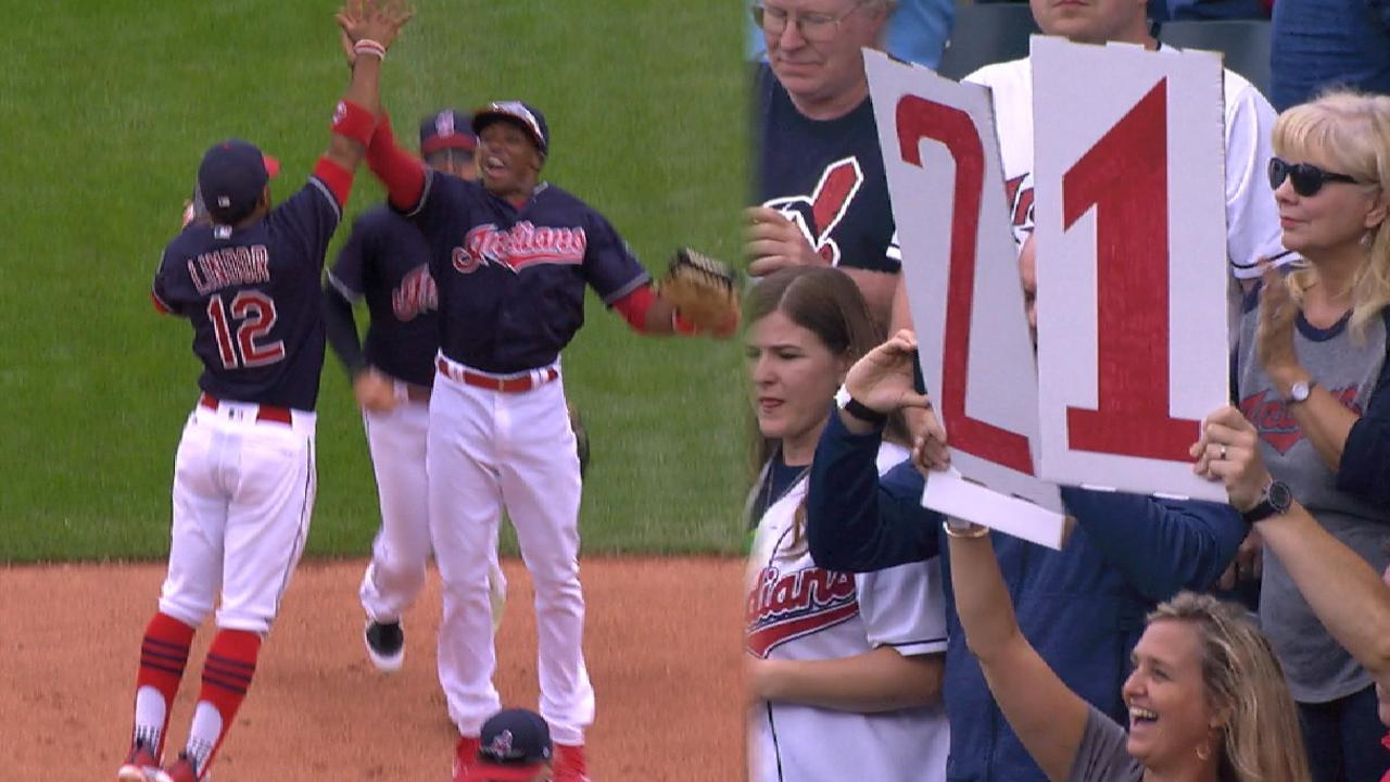 Tribe on a 21-game win streak