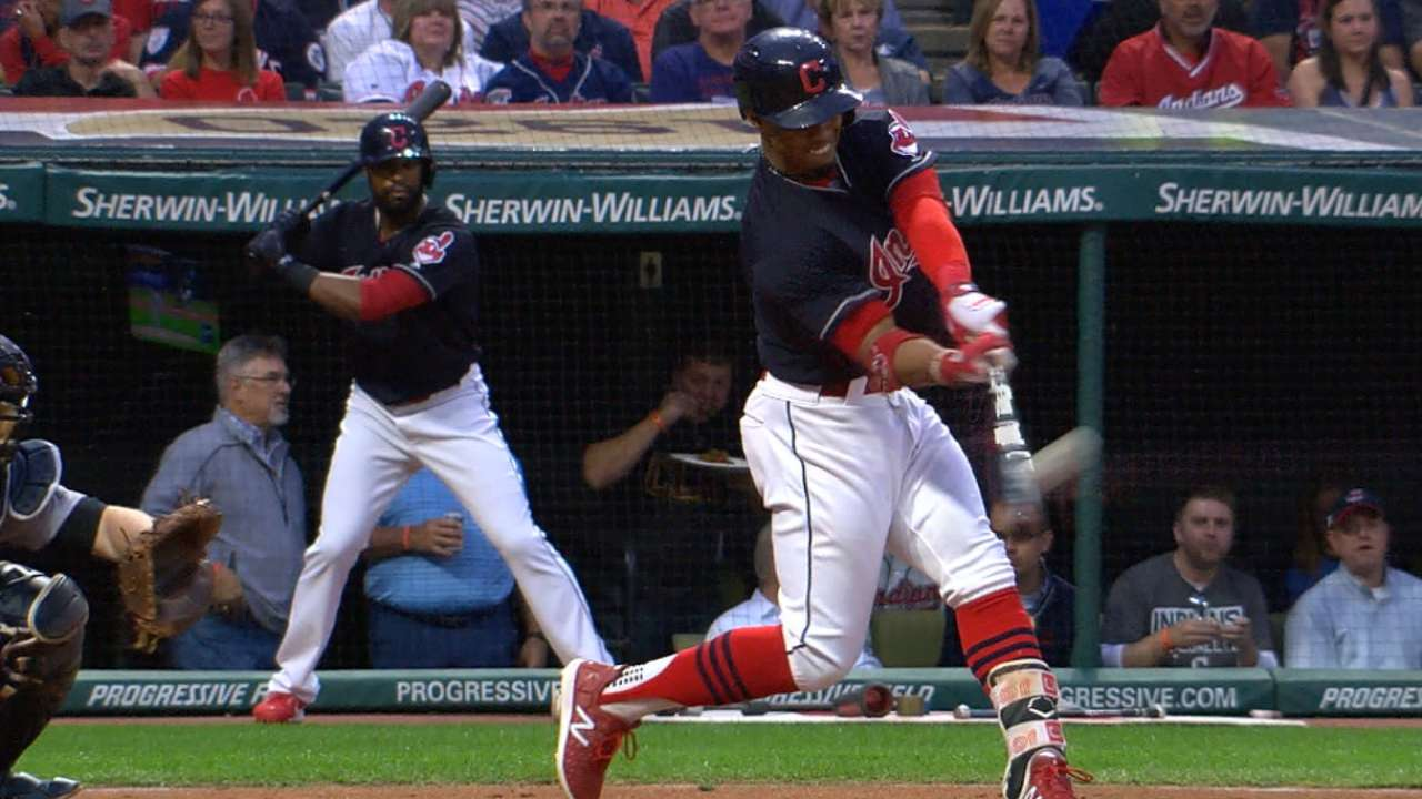 Lindor's leadoff home run
