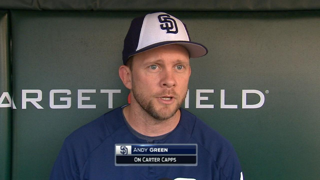 Capps (blood clot) back on DL, done for year
