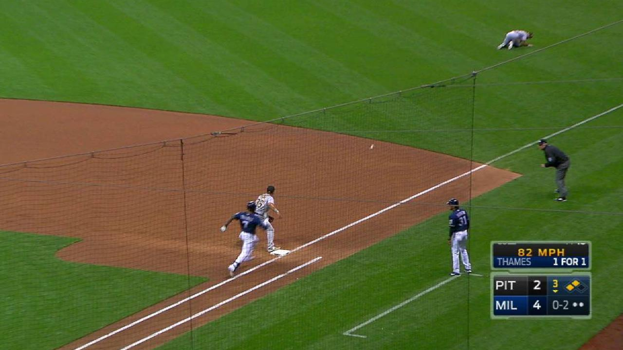 Thames' RBI single