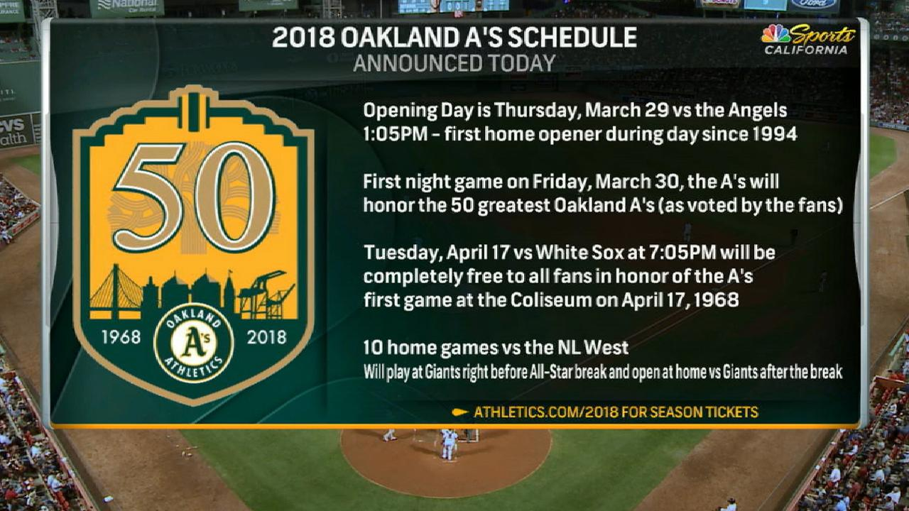 A's will host a game free to all fans in 2018