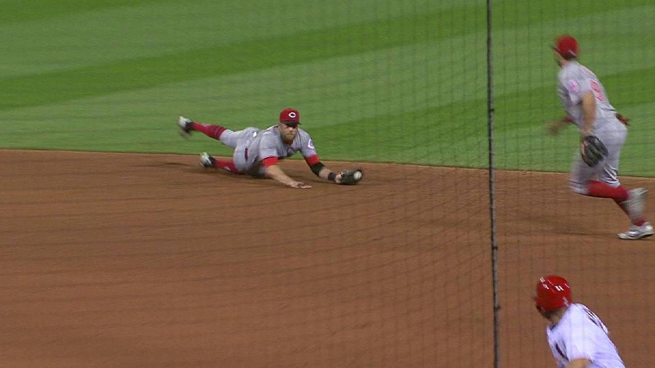 Cozart's diving catch