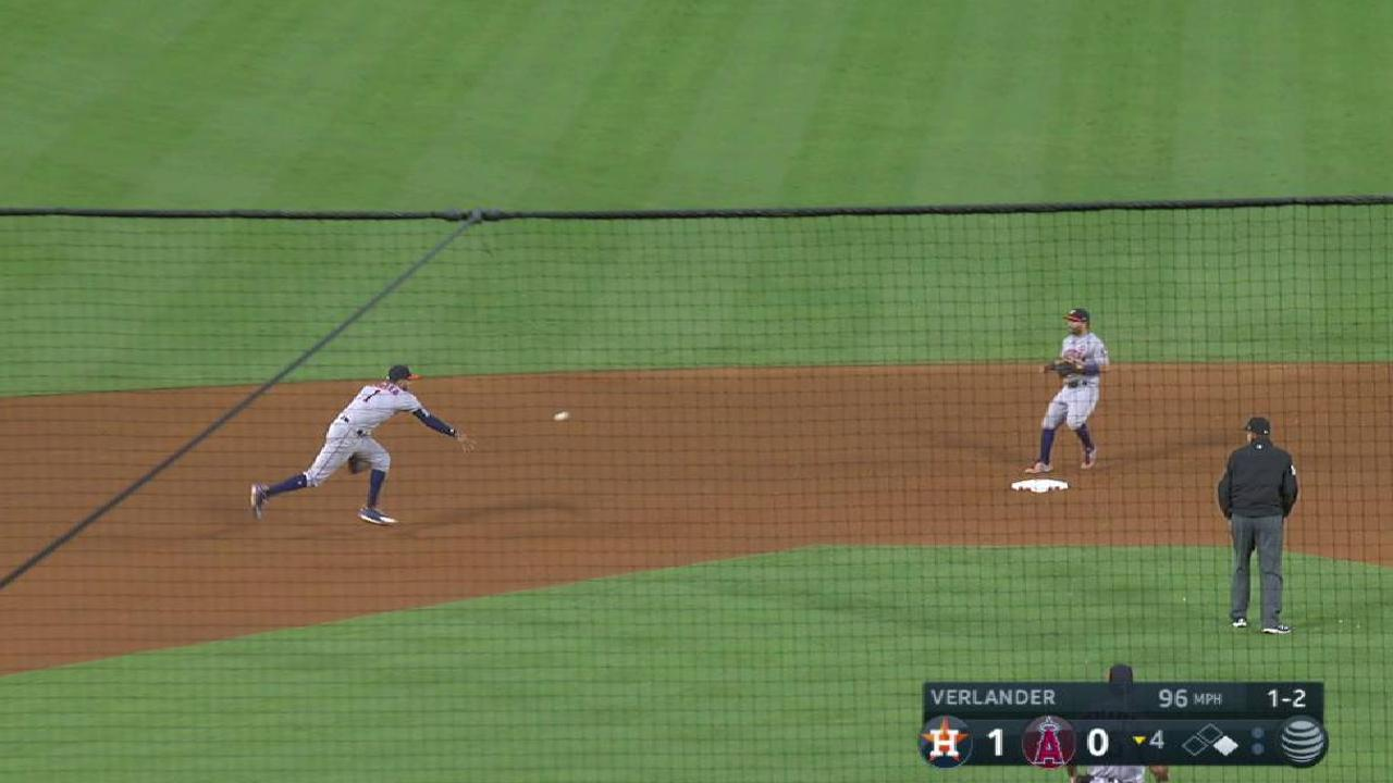 Astros turn 6-4-3 double play