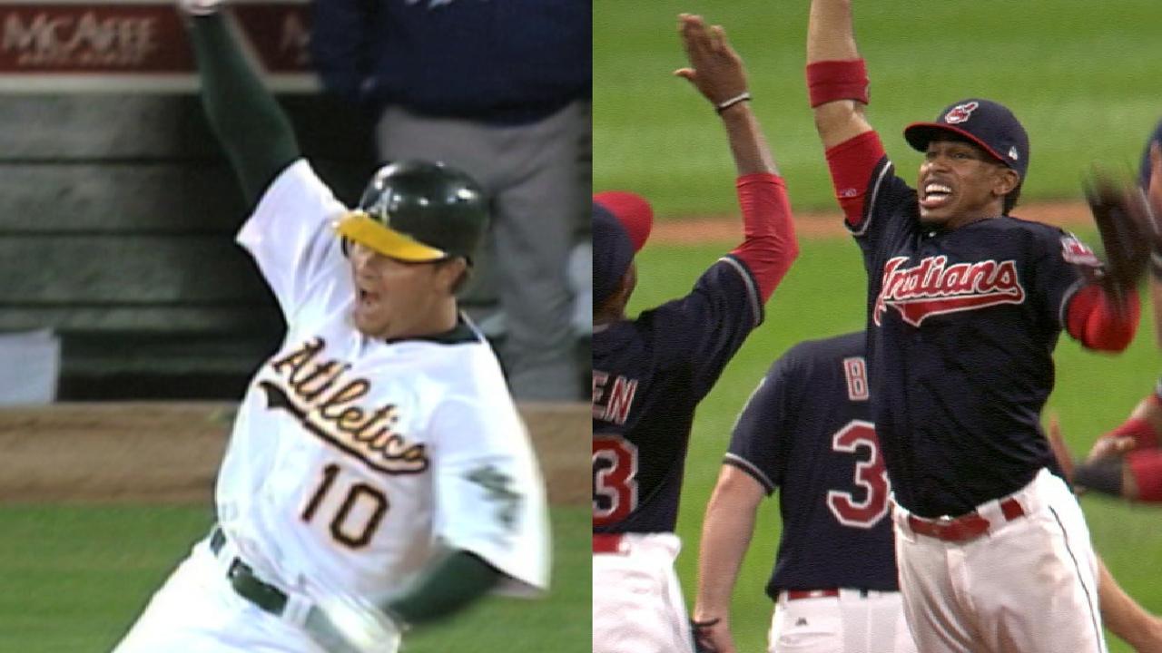 Indians tie A's AL-win streak